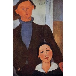 Jacques Lipchitz and His Wife by Amedeo Modigliani oil painting art gallery