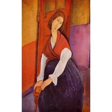 Jeanne Hebuterne (aka In Front of a Door) by Amedeo Modigliani
