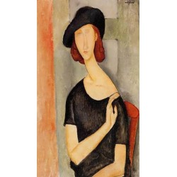 Jeanne Hebuterne In A Hat by Amedeo Modigliani oil painting art gallery