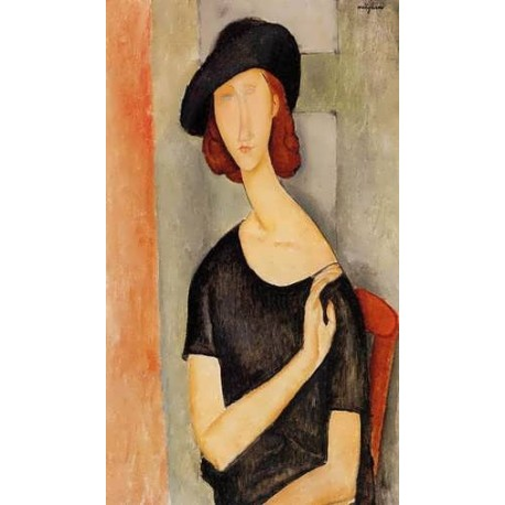 Jeanne Hebuterne In A Hat by Amedeo Modigliani