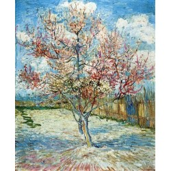 Peach Trees in Blossom by Vincent Van Gogh