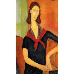 Jeanne Hebuterne In A Scarf by Amedeo Modigliani oil painting art gallery