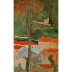 Landscape by Amedeo Modigliani oil painting art gallery
