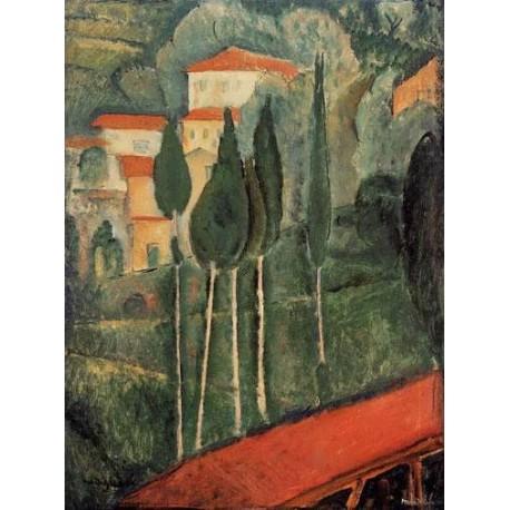 Landscape, Southern France by Amedeo Modigliani