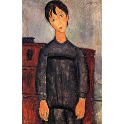 Little Girl in Black Apron by Amedeo Modigliani oil painting art gallery