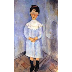 Little Girl In Blue by Amedeo Modigliani oil painting art gallery