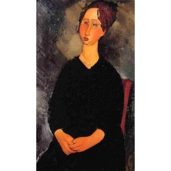 Little Serving Woman by Amedeo Modigliani oil painting art gallery