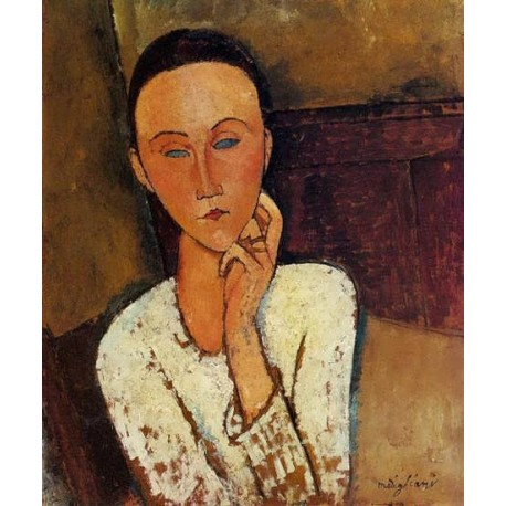 Lunia Czechowska, Left Hand on Her Cheek by Amedeo Modigliani