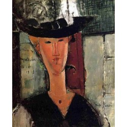 Madame Pompadour by Amedeo Modigliani oil painting art gallery
