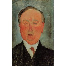 Man in a Monocle Named Bidou by Amedeo Modigliani oil painting art gallery