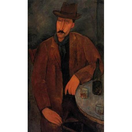 Man in a Monocle Named Bidou by Amedeo Modigliani