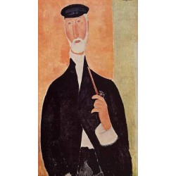 Man with a Pipe (aka The Man from Nice) by Amedeo Modigliani oil painting art gallery