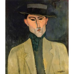 Man witih Hat by Amedeo Modigliani oil painting art gallery