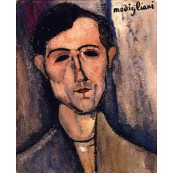 Man's Head (aka Portrait of a Poet) by Amedeo Modigliani