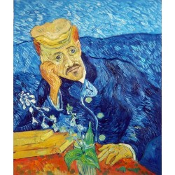 Portrait of Dr Gachet by Vincent Van Gogh -Art gallery oil painting reproductions