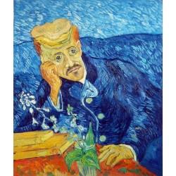 Portrait of Dr Gachet by Vincent Van Gogh -Art gallery oil painting reproductions