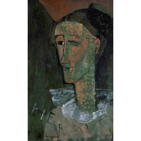 Pierrot (aka Self Portrait as Pierrot) by Amedeo Modigliani
