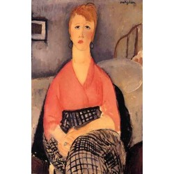 Pink Blouse by Amedeo Modigliani oil painting art gallery