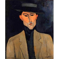 Portrait of a Man with Hat (aka Jose Pacheco) by Amedeo Modigliani oil painting art gallery