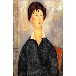 Portrait of a Woman with a White Collar by Amedeo Modigliani oil painting art gallery