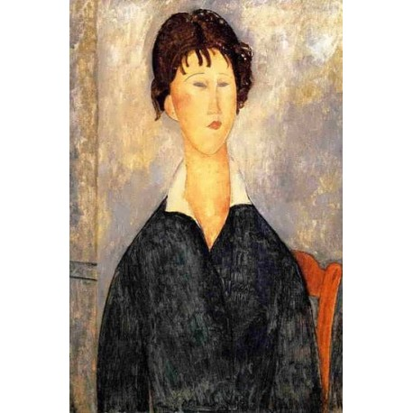 Portrait of a Woman with a White Collar by Amedeo Modigliani