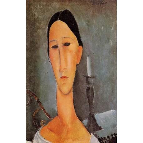 Portrait of Anna Zborowska by Amedeo Modigliani