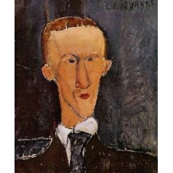 Portrait of Blaise Cendrars by Amedeo Modigliani