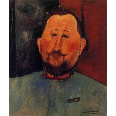 Portrait of Doctor Devaraigne by Amedeo Modigliani