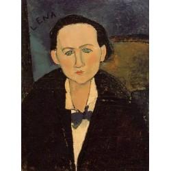 Portrait of Elena Pavlowski by Amedeo Modigliani