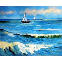 Seascape Near Les Saintes-Maries by Vincent Van Gogh - Art gallery oil painting reproductions