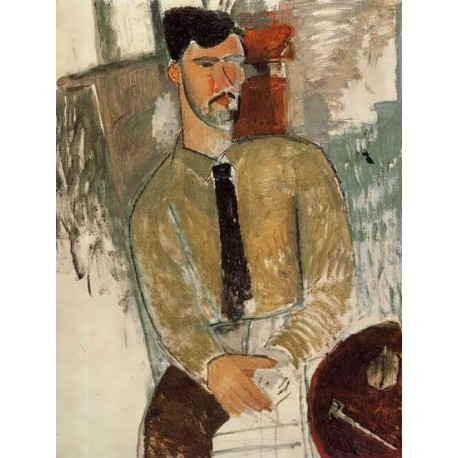 Portrait of Henri Laurens by Amedeo Modigliani