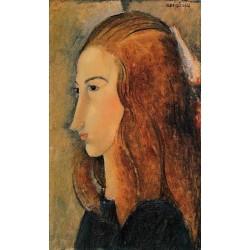 Portrait of Jeanne Hebutern by Amedeo Modigliani