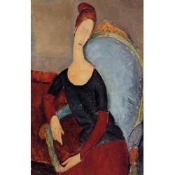 Portrait of Jeanne Hebuterne Seated in an Armchair by Amedeo Modigliani