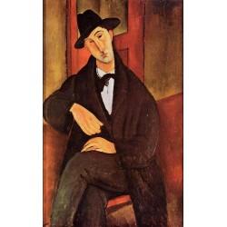 Portrait Of Mario Varvogli by Amedeo Modigliani