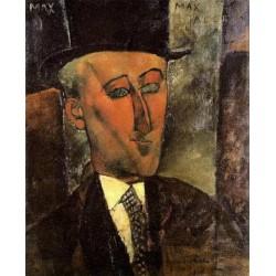 Portrait Of Max Jacob by Amedeo Modigliani