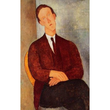 Portrait of Morgan Russell by Amedeo Modigliani