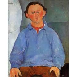 Portrait of Oscar Meistchaninoff by Amedeo Modigliani