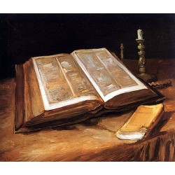 Still Life with Open Bible by Vincent Van Gogh- Art gallery oil painting reproductions