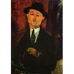 Portrait of Paul Guillaume - Novo Pilota by Amedeo Modigliani