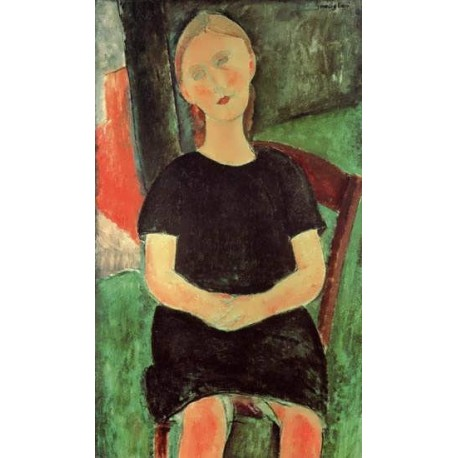 Seated Young Woman by Amedeo Modigliani
