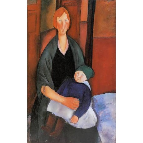 Seated Woman with Child (aka Motherhood) by Amedeo Modigliani