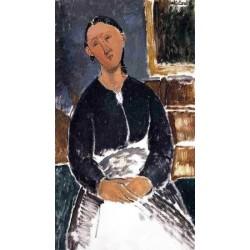 Serving Woman (aka La Fantesca) by Amedeo Modigliani