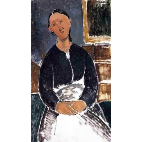 Serving Woman (aka La Fantesca) by Amedeo Modigliani