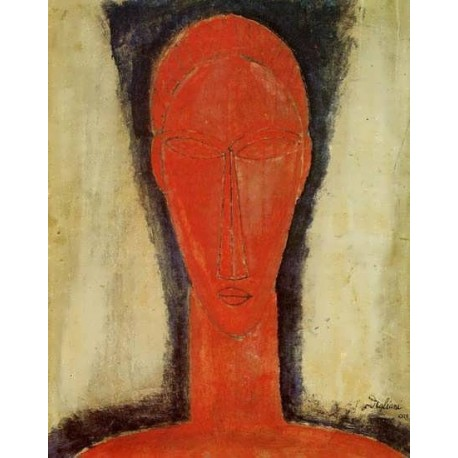 Study of a Head by Amedeo Modigliani