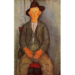 The Little Peasant by Amedeo Modigliani oil painting art gallery