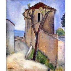 Tree And Houses by Amedeo Modigliani