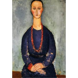 Woman in a Red Necklace by Amedeo Modigliani