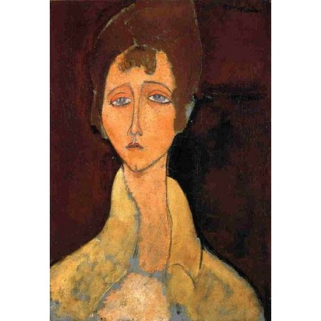 Woman in White Coat by Amedeo Modigliani