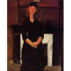 Woman Seated in front of a Fireplace by Amedeo Modigliani