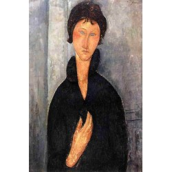 Woman with Blue Eyes by Amedeo Modigliani